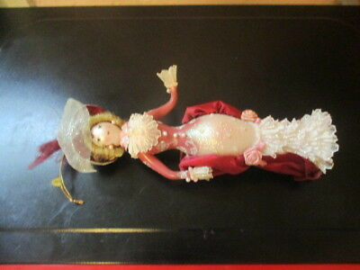 Victorian Glass Lady Christmas Ornament