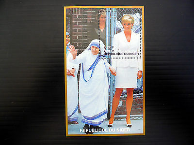 NIGER Wholesale 1997 Diana & Mother Teresa M/Sheet x 50 NEW LOWER PRICE FP1085