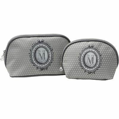 Mathilde M Set Of 2 Toiletry Bags Make Up Pouch Cosmetic Travel Case Perle
