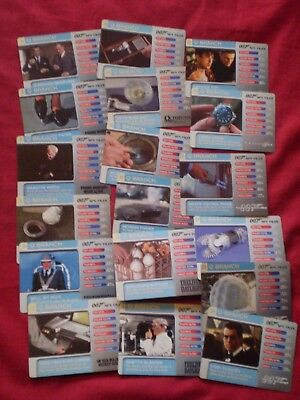 Job Lot Of James Bond 007 Spy Files, Branch Collectors Cards