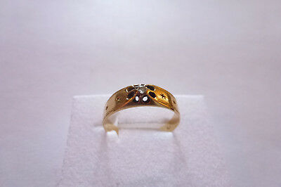 Wunderschöner eleganter seltener antiker Ring Gold 585 Jugendstil Diamantrose
