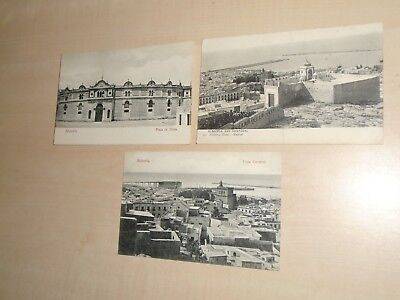 1907 Three Spanish Postcards Of Almeria Views By E.Cortes Almeria