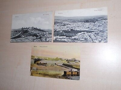 1909 Three Spanish Postcards Of Almeria Views By E.Cortes Almeria