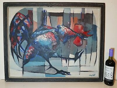 Vintage Abstract Oil painting signed George Campbell RHA RUA 1917-1979 Irish
