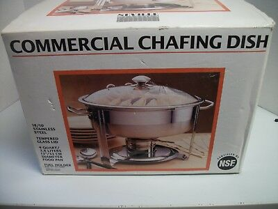 4 Quart Stainless Steel Commercial  Heavy Gage 18/10 Chafing Dish Free Shipping