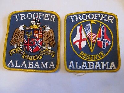 Alabama State Trooper Patch & Reserve Both Old Cheese Cloth