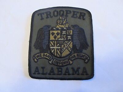 Alabama State Trooper Patch Subdued