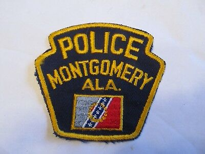 Alabama Montgomery Police Patch Old Cheese Cloth