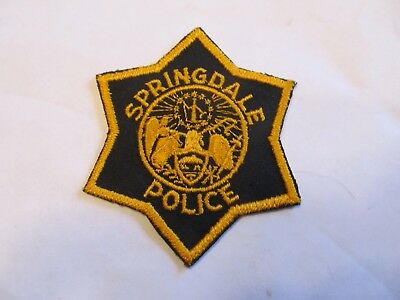 Arkansa Spingdale Police Patch Old Cheese Cloth
