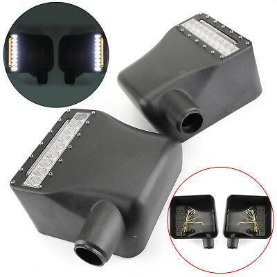 New Side Mirror RearView Housing Cover Mount LED For JEEP WRANGLER JK 2007-15 D