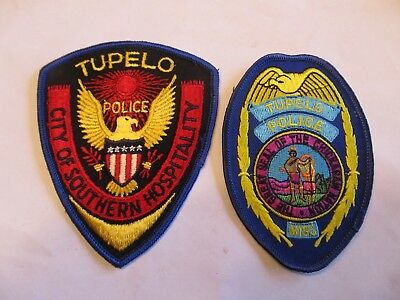 Mississippi Tupelo Police Patch Set Left Cheese Cloth
