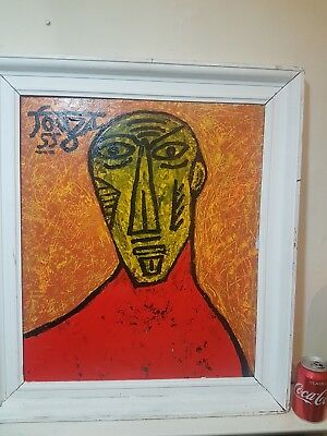 Vintage Indian Contemporary oil painting signed Francis Newton Souza 1924-2002?