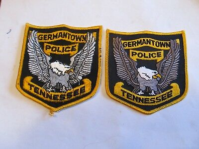 Tennessee Germantown Police Patch Set Diff Eagles