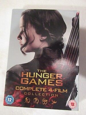 Dvd - The Hunger Games - Complete 4 Film Collection - Watched Once