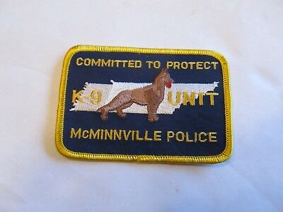 Tennessee McMinnville Police K-9 Unit Patch