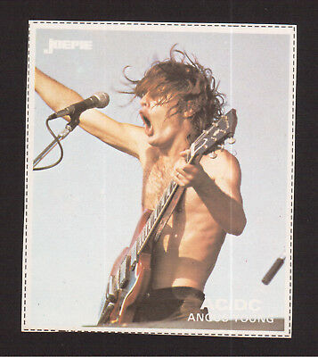 AC/DC ACDC Angus Young Vintage Belgian Pop Rock Music Sticker B