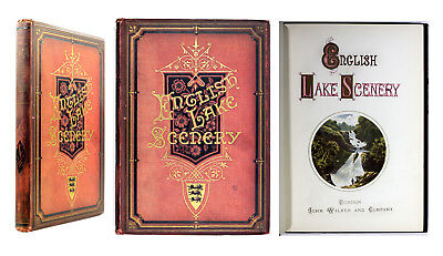 1880 Old Antique 19th Century English Lake Scenery Chromolithograph Col Plates
