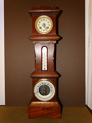 Antique French table clock, barometer and thermometer-1855´s