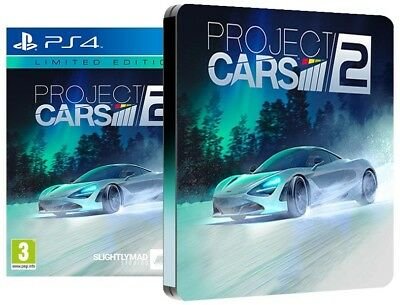 Project Cars 2 Limited Edition Steelbook - PS4 Playstation 4 Rennspiel - NEU OVP