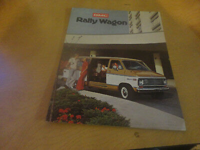 1975 GMC Rally Wagon Brochure Mint!