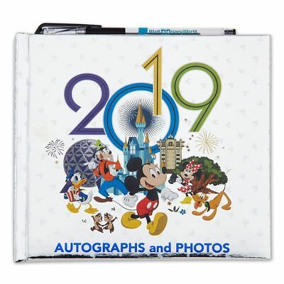 Disney Parks Mickey & Friends 2019 Autograph Photo Book With Pen New With Tags