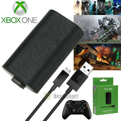 For Microsoft Xbox One Play and Charge Kit Rechargeable Battery&Charging Cable