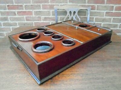 19th Century Mahogany Butlers Bottle / Drinks Tray Country House