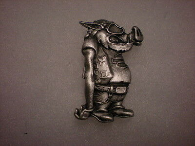 Harley Davidson Road Hog Pewter Pin  Beautiful ** Fantastic *** Wow