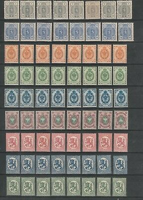 Nice Lot Finland 1889 - 1925 : 152 X Mint Never Hinged Coat Of Arms : $ 1.00 !!!