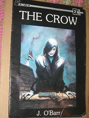 The Crow Issue 2 1st Printing VG J. O'Barr Caliber Comics 1989 NOT SIGNED