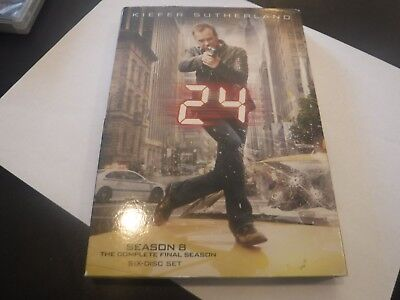 24: The Complete Eighth Season (DVD, 2010, 6-Disc Set) with Digital Download