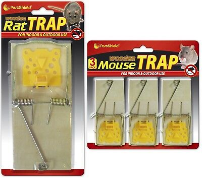 Wooden Mouse Mice Rat Rodent Trap Pest Control Catch Kill Control  Reusable