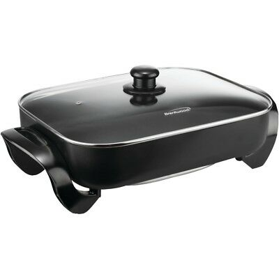 """Brentwood Electric Skillet With Glass Lid (1,400w; 16"""") BTWSK75"""