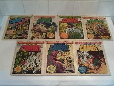 7 x VINTAGE FORCES IN COMBAT COMICS - 1980 AND 1981