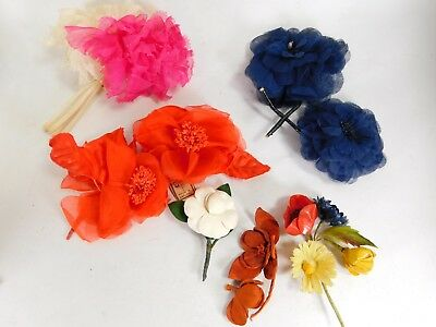 Various Vintage Millinery Flowers Hat Trims Fabric Decorations 30s/40s/50s