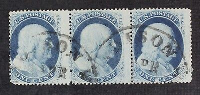CKStamps: US Stamps Collection Scott#24 1c Franklin Used 1 Lightly Crease