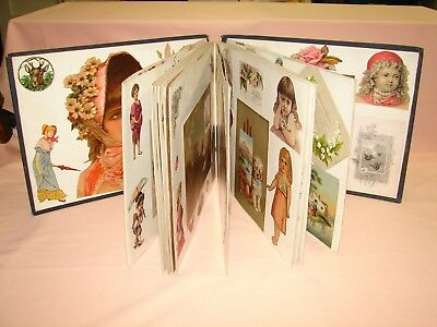 victorian accordion style scrapbook linen pages