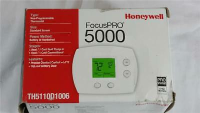 New Honeywell FocusPro 5000 Thermostat Non-Programable TH5110D1006