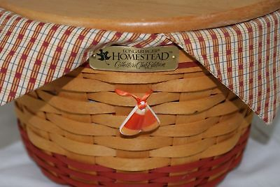 1999 Longaberger Homestead Collector Club Basket w/ Liner&Protector Tie-On (500)