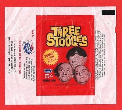 1966 Fleer Three Stooges 5-Cent Wrapper