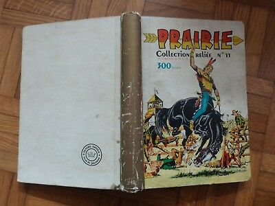 Prairie, collection reliée N°11, N° 73 à 84, western, 1956.
