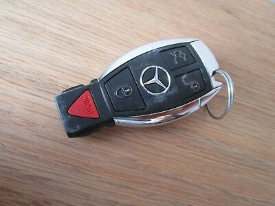 OEM MERCEDES BENZ 4 Button Smart Key Less Factory Remote Fob Chrome