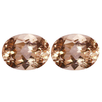 1.65Ct [2Pcs] Pair Flashing Oval Cut 7 x 5 mm AAA Pink Morganite