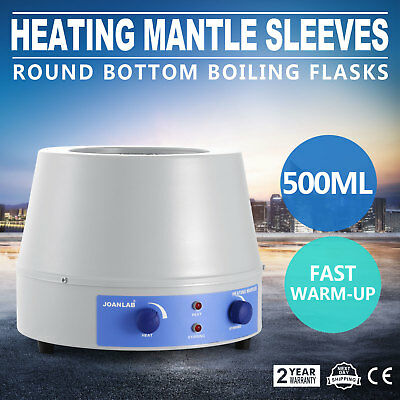 Magnetic Stirrer Heating Mantle Boiling Flasks Temp-Control 250W Stirring 500ml