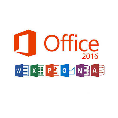 MS Microsoft Office 2016 Professional Plus Key 32/64 Bit product VIA email