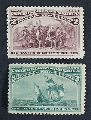 CKStamps: US Stamps Collection Scott#231 Mint H OG Tiny Tear, #232 Unused Regum