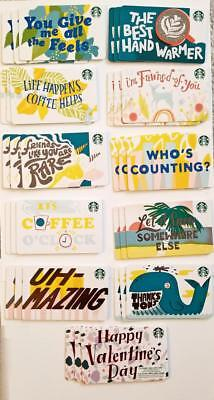 Lot of 33 Starbucks Card 2019 Recycled Paper Winter-January Gift Card Set Lot