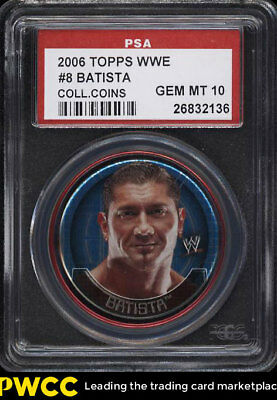 2006 Topps WWE Collectible Coins Batista #8 PSA 10 GEM MINT (PWCC)