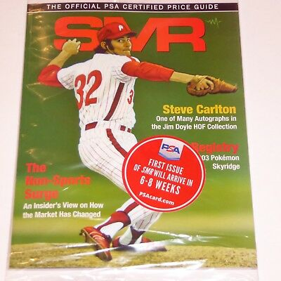 Jan 2019 Smr Sports Market Report Psa/dna Price Guide Steve Carlton &pokemon New