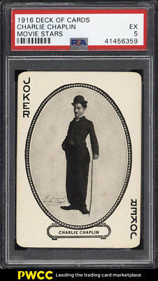 1916 Deck Of Cards Movie Stars Charlie Chaplin PSA 5 EX (PWCC)